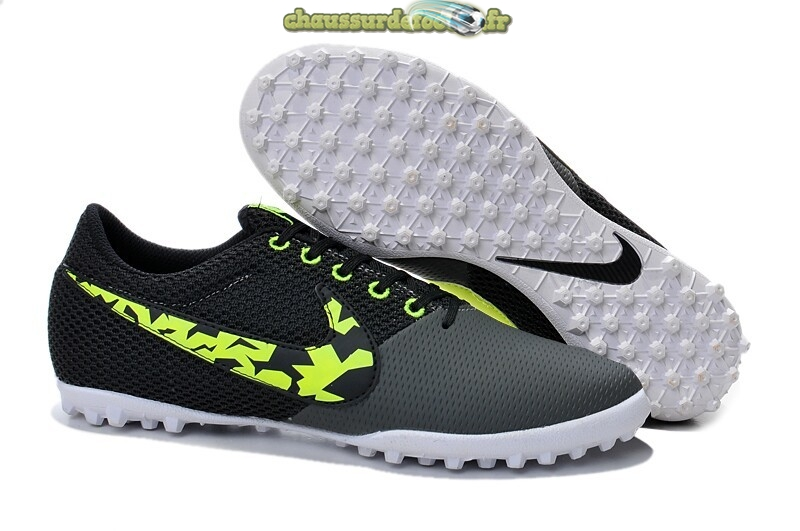 Chaussure Nike Elastico Pro III TF Noir Gris