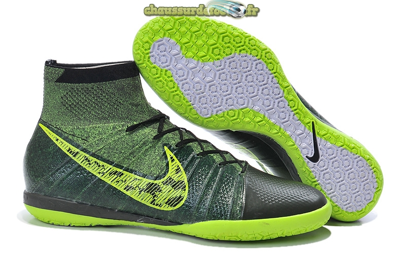 Chaussure Nike Elastico Superfly INIC Noir Vert Fluorescent