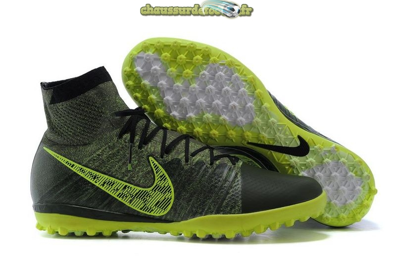 Chaussure Nike Elastico Superfly TF Vert Fluorescent Pardo