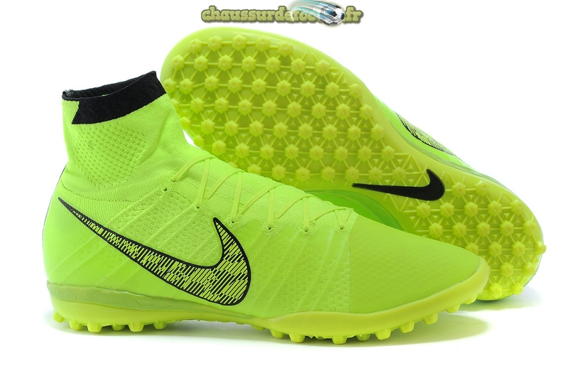 Chaussure Nike Elastico Superfly TF Vert Fluorescent