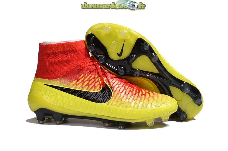Chaussure Nike Magista Obra FG Jaune Orange