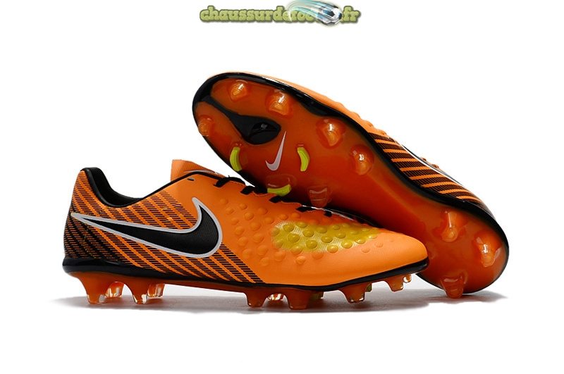 Chaussure Nike Magista Orden II FG Orange Noir