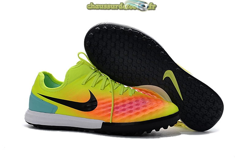 Chaussure Nike MagistaX Finale II TF Jaune Orange Noir