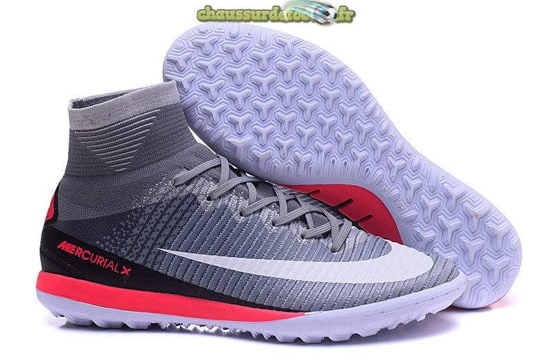 Chaussure Nike MagistaX Proximo II TF Gris Blanc Rouge