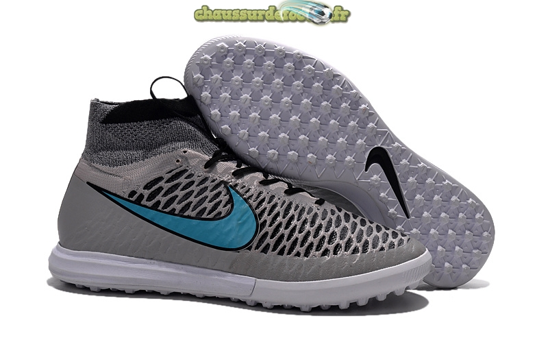 Chaussure Nike MagistaX Proximo TF Gris Bleu
