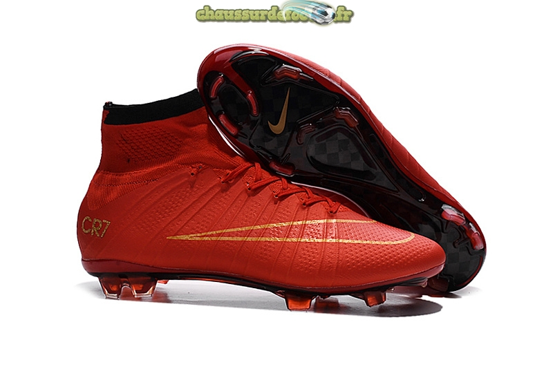 Chaussure Nike Mercurial Superfly CR7 Enfants FG Cramoisi
