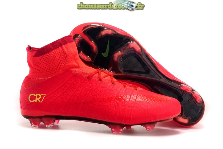 Chaussure Nike Mercurial Superfly CR7 Enfants FG Rouge