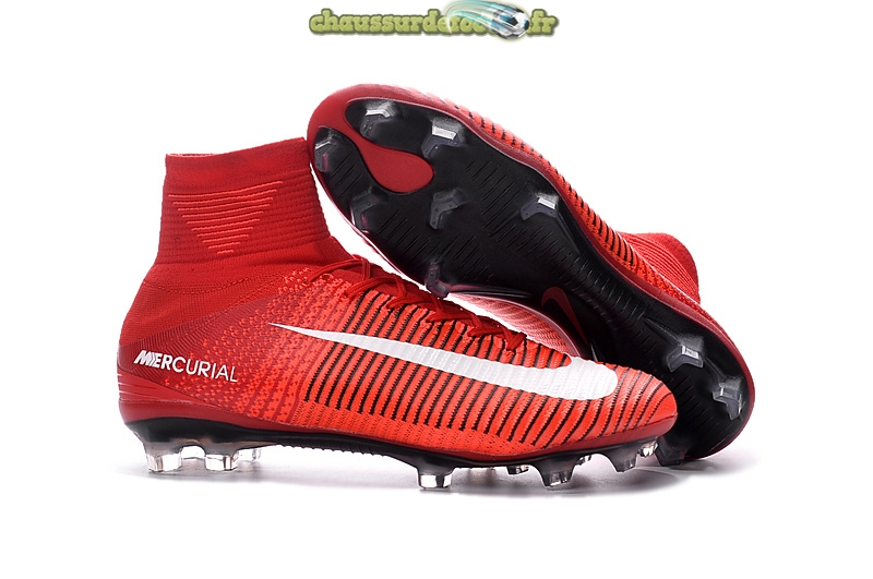 Chaussure Nike Mercurial Superfly Femme FG Rouge