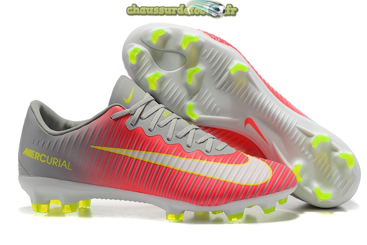 Chaussure Nike Mercurial Superfly V FG Gris Rouge Blanc