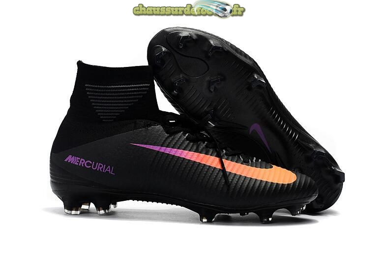 Chaussure Nike Mercurial Superfly V FG Noir Orange