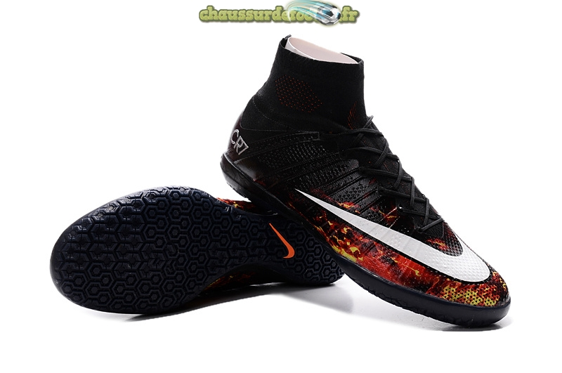 Chaussure Nike Mercurial Veloce CR7 INIC Noir Blanc Cramoisi