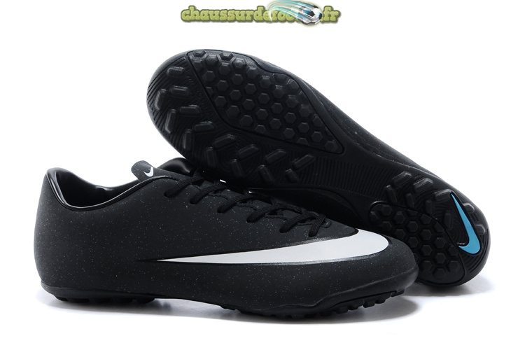 Chaussure Nike Mercurial Veloce CR7 TF Noir Blanc