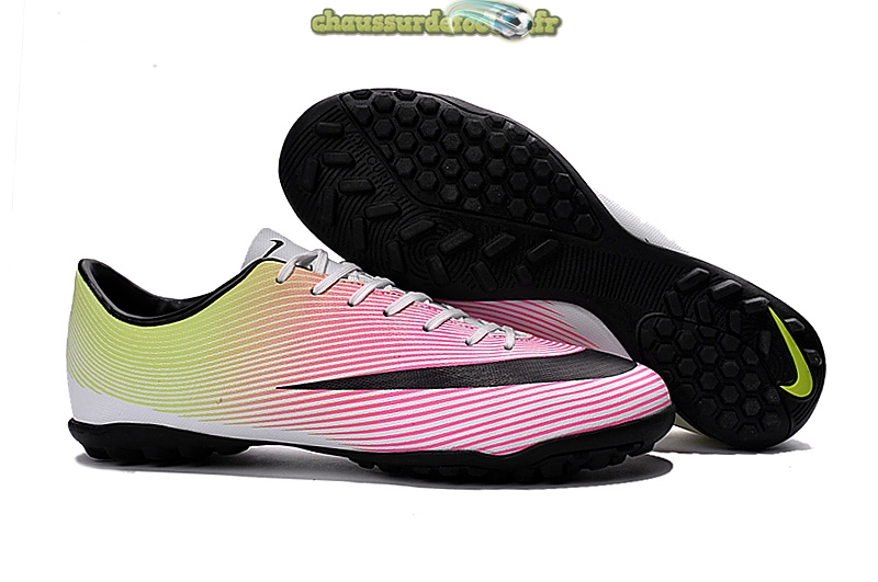 Chaussure Nike Mercurial X Victory Femme TF Blanc Noir