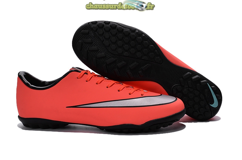 Chaussure Nike Mercurial X Victory Femme TF Orange Gris