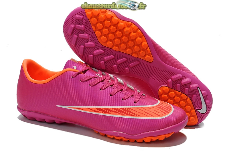 Chaussure Nike Mercurial X Victory Femme TF Rouge Orange