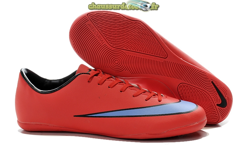 Chaussure Nike Mercurial X Victory INIC Rouge Bleu