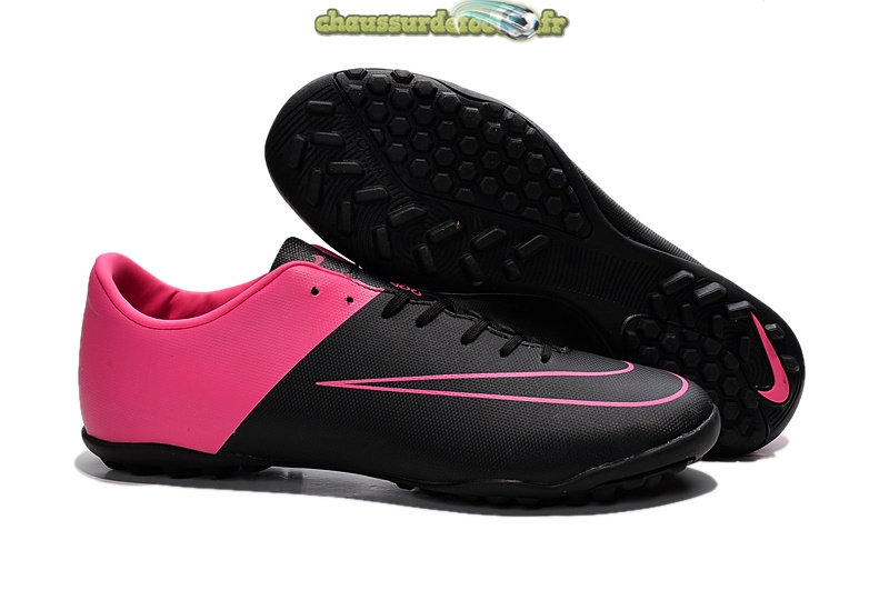 Chaussure Nike Mercurial X Victory TF Rouge Noir