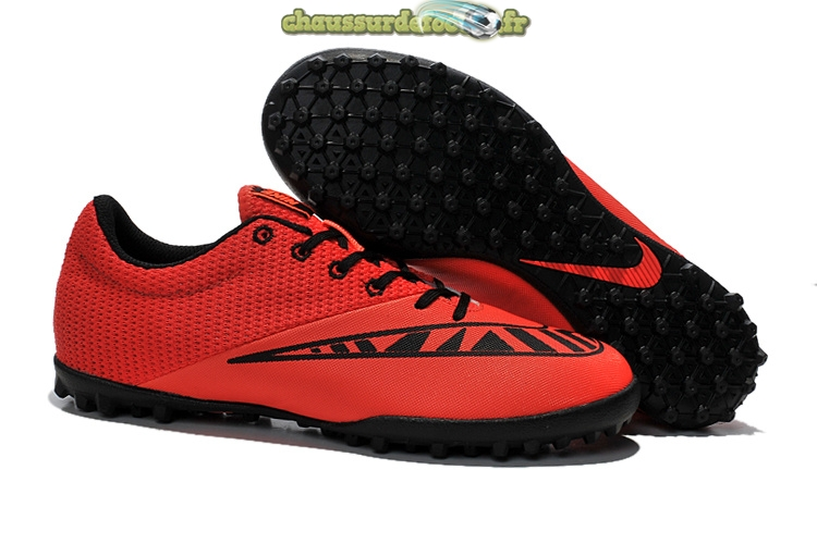 Chaussure Nike MercurialX Pro TF Rouge Noir