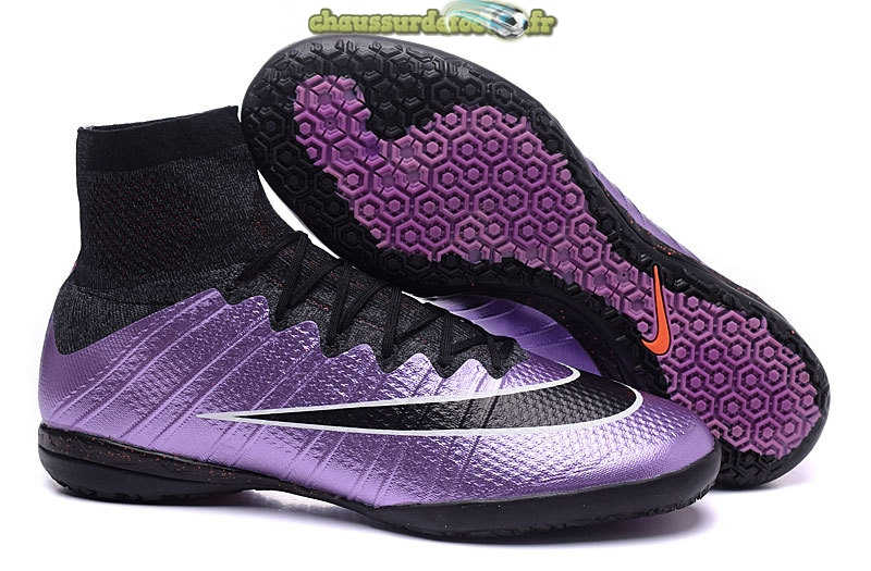 Chaussure Nike MercurialX Proximo INIC Noir Pourpre