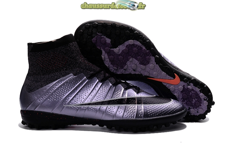 Chaussure Nike MercurialX Proximo TF Noir Pourpre Rose