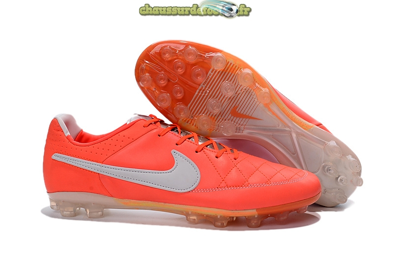 Chaussure Nike Tiempo Legend V AG Rose Argent