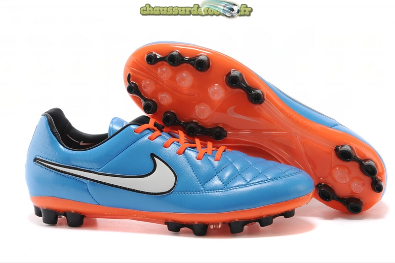 Chaussure Nike Tiempo Mystic V AG Bleu Rouge