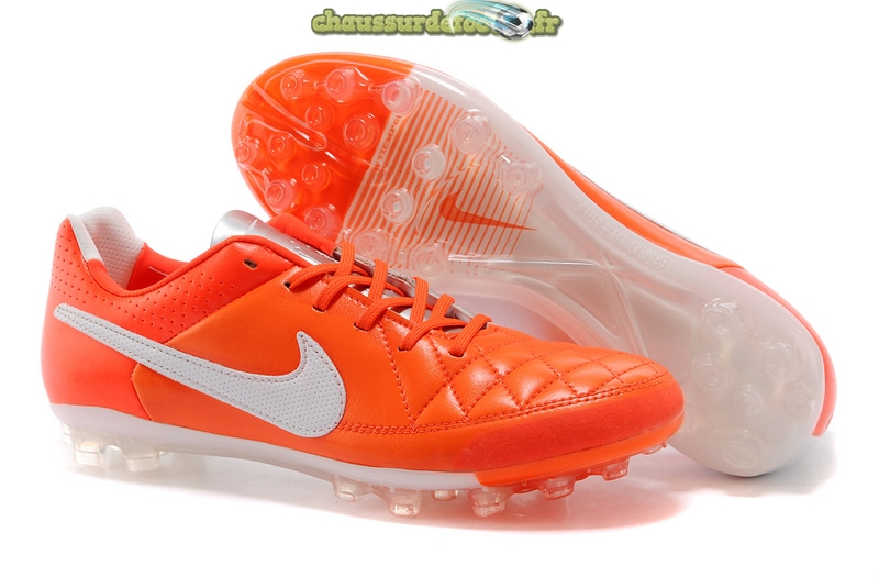 Chaussure Nike Tiempo Mystic V AG Rouge Blanc