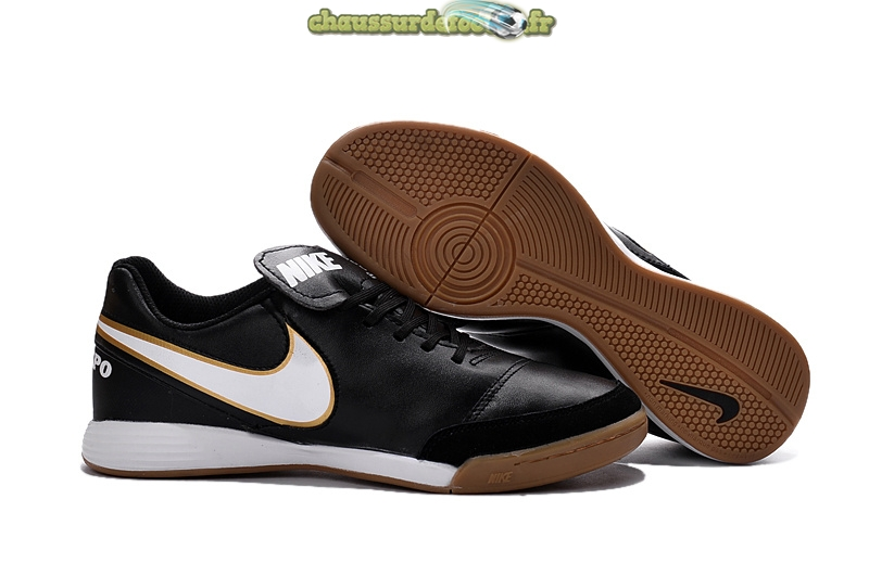 Chaussure Nike Tiempo Mystic V INIC Noir Or Blanc