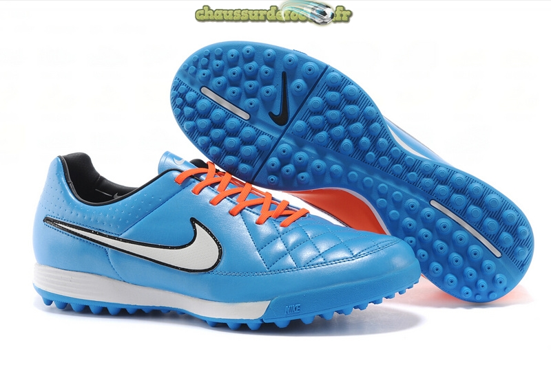 Chaussure Nike Tiempo Mystic V TF Bleu Rouge