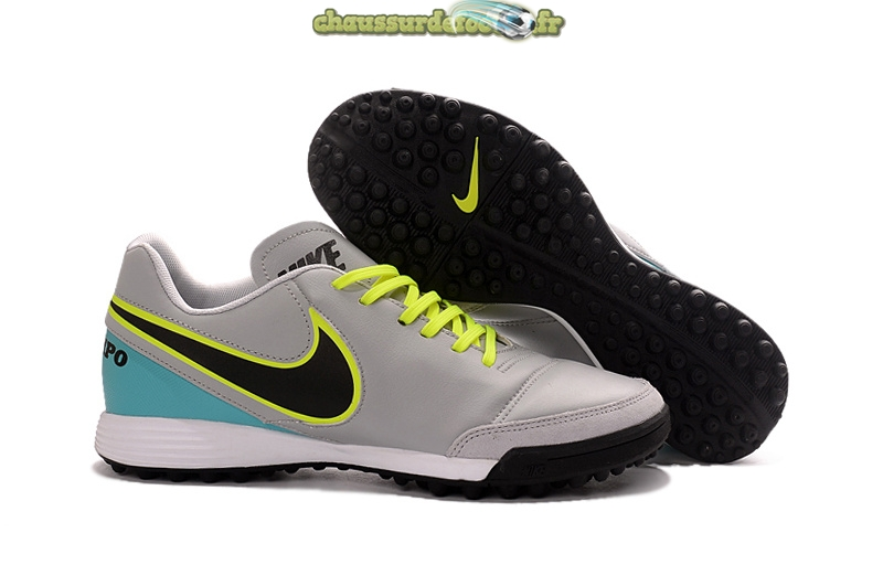 Chaussure Nike Tiempo Mystic V TF Gris