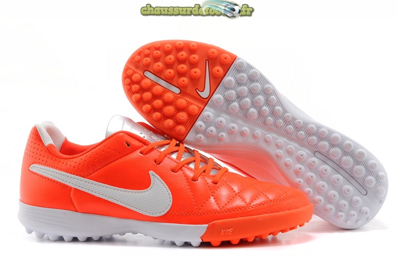 Chaussure Nike Tiempo Mystic V TF Rouge Blanc