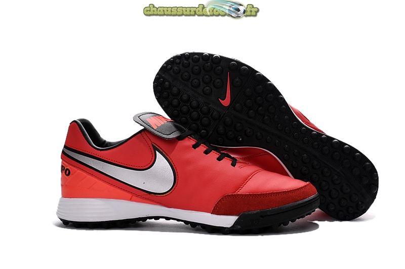Chaussure Nike Tiempo Mystic V TF Rouge