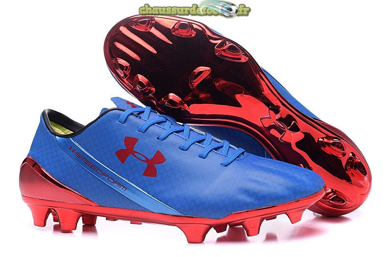 Chaussure Under Armour Speedform FG Bleu Rouge