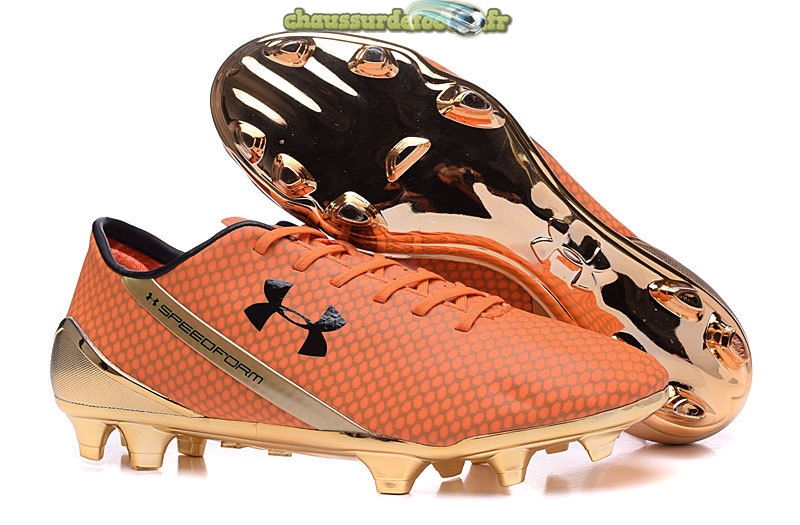 Chaussure Under Armour Speedform FG Orange Or