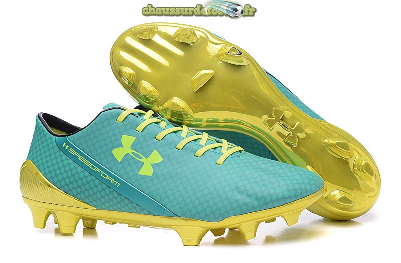 Chaussure Under Armour Speedform FG Vert Vert Fluorescent